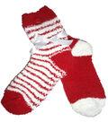 2 Stripe Red & White Tactile Sock