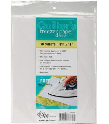 "Quilter's Freezer Paper Sheets 8-1/2""x11"" 30/pkg"
