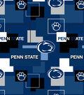 Penn State University Nittany Lions Cotton Fabric 43\u0027\u0027-Modern Block