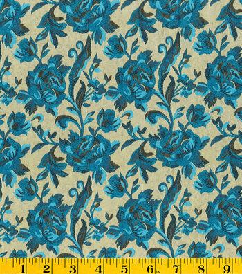 "Gertie Collection Jacquard Fabric 56""-Metallic Aqua"