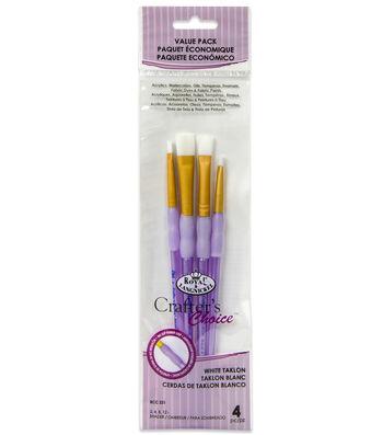 Royal & Langnickel® Shader Brush Set 4pk-White Taklon