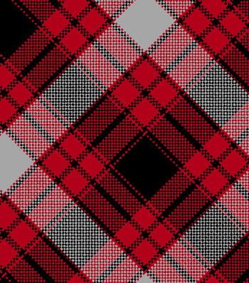 "Blizzard Fleece Fabric 59""-Annie Plaid Red"