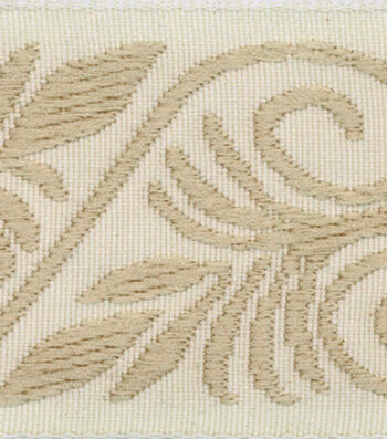 Wide Tapestry Ribbon-Tan