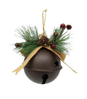 Maker's Holiday Christmas Woodland Lodge Rustic Giant Bell Ornament, , hi-res