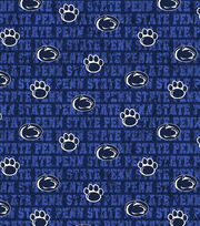 "Penn State University Nittany Lions Cotton Fabric 43""-Distressed, , hi-res"