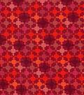 Keepsake Calico™ Cotton Fabric 43\u0022-Multi Red Packed Diamond Geometrics