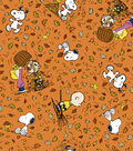 Harvest Cotton Fabric 43\u0022-Peanuts Falling Leaves
