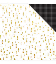 Kaisercraft A Touch Of Gold 12''x12'' Double-Sided Cardstock-Razzle, , hi-res