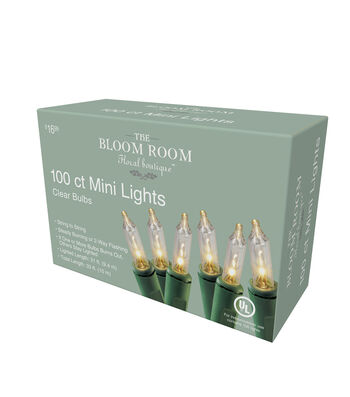 Bloom Room Green Incandescent Mini Lite Set With 100 Mini Clear Bulbs