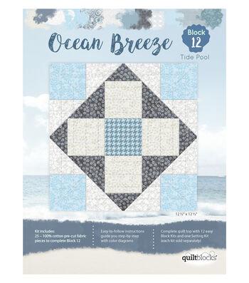 "Quilt Block of the Month Cotton Fabric 12.5""-Ocean Breeze"