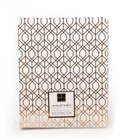 DCWV Moment Maker Notebook-Gold Foil Geometric Shapes, , hi-res