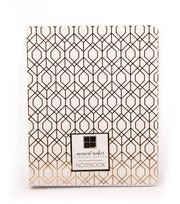 DCWV Moment Maker Notebook-Gold Foil Geometric Shapes, , hi-res