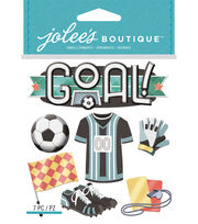 Jolee's Boutique Dimensional Stickers-Soccer, , hi-res