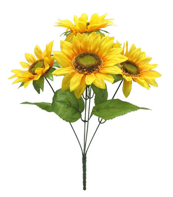 Fresh Picked Spring 18'' Sunflower Bush-Yellow