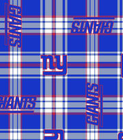 "New York Giants Fleece Fabric 58""-Plaid, , hi-res"