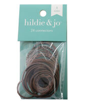 hildie & jo™ 24 Pack Circle Connectors-Ox Copper, , hi-res