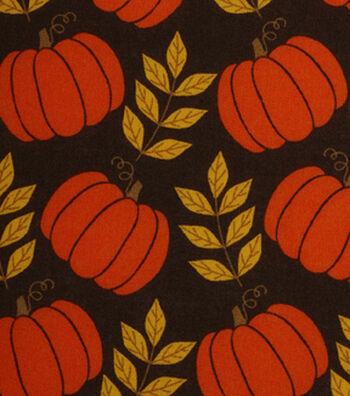 """Harvest Cotton Fabric 43""""-Large Pumpkins"""