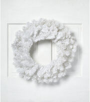 Blooming Holiday Christmas 24'' PVC Wreath-White, , hi-res