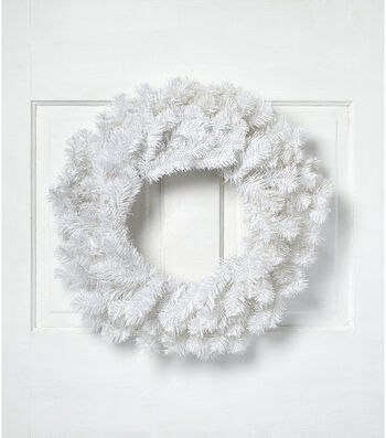 Blooming Holiday Christmas 24'' PVC Wreath-White