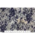Keepsake Calico Cotton Fabric 43\u0027\u0027-Metallic & Dark Blue Crackle