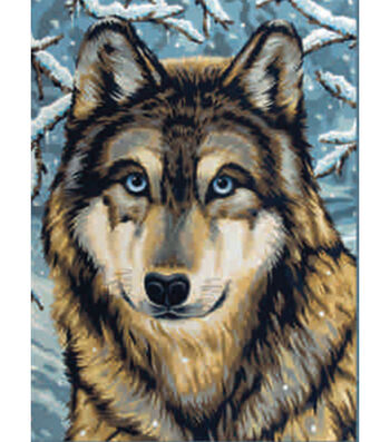 "Junior Paint By Number Kits 9""X12""-Wolf 2"