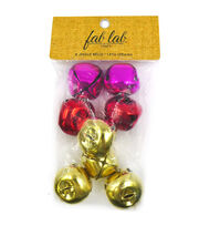 Jingle Bells 35mm 8/Pkg-Gold/Red/Pink, , hi-res