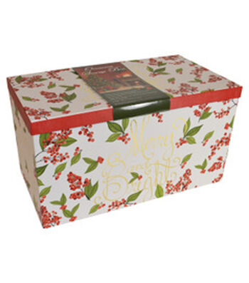 Maker's Holiday Large Ornament Storage Box-Wild Berry
