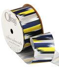 1 And 1 Half True Blue Paint Stroke Ribbon