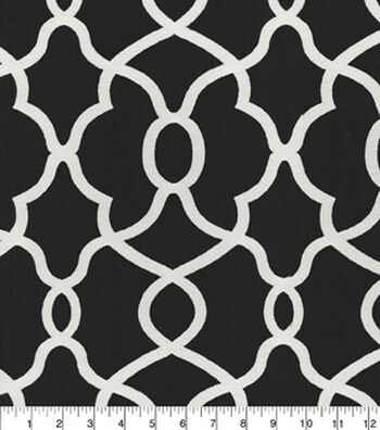 "Kelly Ripa Home Upholstery Fabric 57""-Clearly Cool Ebony"