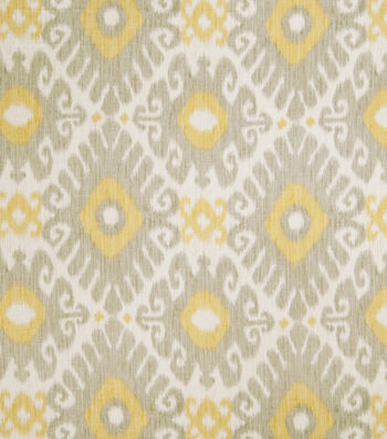 "Jaclyn Smith Upholstery Fabric 54""-Ikat Rot/Dove Gray"