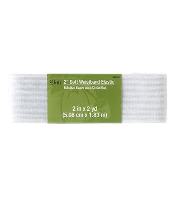 Dritz® 2'' Soft Waistband Elastic-White