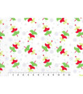 Christmas Cotton Fabric-Whimsical Trees On White Tossed