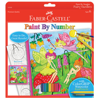"Paint By Number Kit 9""X9""-Fairy Garden"