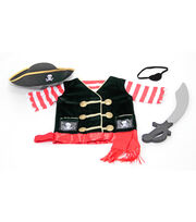 Melissa & Doug Pirate Role Play Costume Set, , hi-res