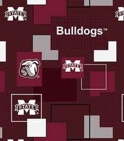 Mississippi State University Bulldogs Cotton Fabric 43''-Modern Block, , hi-res
