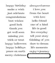 Tim Holtz Large Cling Rubber Stamp Set-Simple Sayings, , hi-res