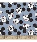 Disney® Mickey Head Toss Chambray Fabric