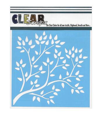 Clear Scraps 12''x12'' Stencils-Tree Branch