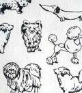 Snuggle Flannel Fabric 42\u0022-Monochrome Dogs