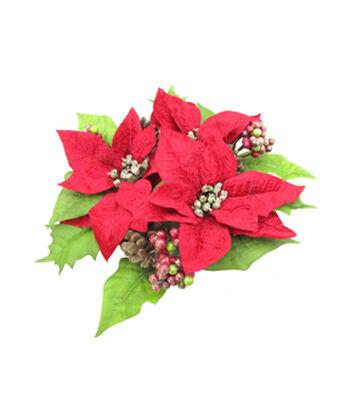 Blooming Holiday Christmas 10'' Poinsettia Mini Wreath
