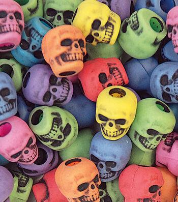 Skull Beads Circus Multi 250 Ct