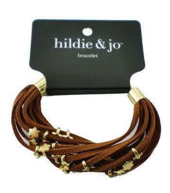 hildie & jo™ Tan Bracelet-Gold Stars