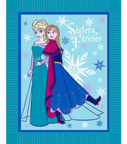 "No Sew Fleece Throw 48""-Frozen Winter Magic, , hi-res"