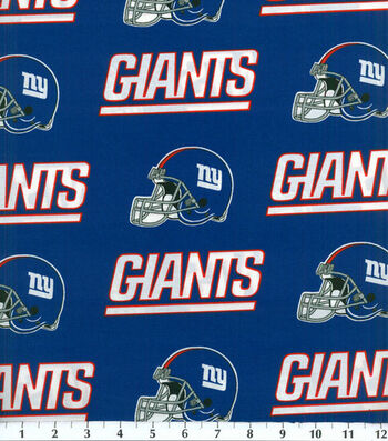 "New York Giants Cotton Fabric 58""-Helmet Logo"