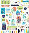 Cake Party Animal Stickers 12\u0022X12\u0022-Elements