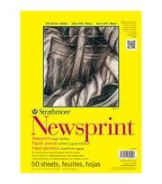 "Strathmore Smooth Newsprint Paper Pad 18""X24""-32lb 50 Sheets, , hi-res"