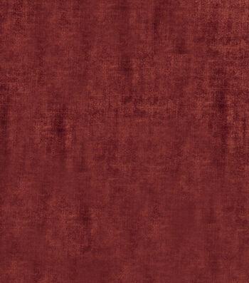 """Jaclyn Smith Upholstery Fabric 54""""-Theater Velvet/Poppy"""