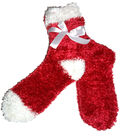 Red & White Feather Sock
