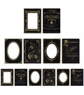 Tim Holtz Idea-Ology Mini Cabinet Cards-Sophisticate Black & Gold