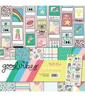 My Mind\u0027s Eye Good Vibes 12\u0027\u0027x12\u0027\u0027 Paper & Accessories Kit